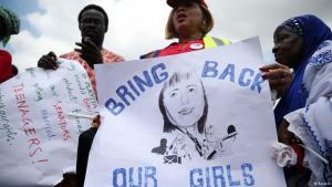 Kundgebung gegen die Entführung von über 200 nigerianischen Schülerinnen durch die Terror-Sekte Boko Haram; Foto: Reuters