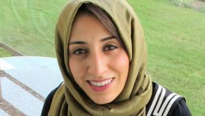 Die bahrainische Aktivistin Ala'a Shehabi; Foto: Ala'a Shehabi