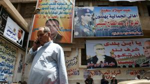 Im Kairoer Viertel Gamalija ist Abdel Fattah al-Sisi allgegenwärtig; Foto: Markus Symank