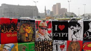 Sisi-Devotionalien am Tahrirplatz in Kairo; Foto: DW