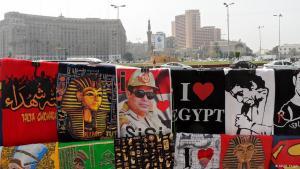 Sisi-Devotionalien am Tahrirplatz in Kairo; Foto: DW