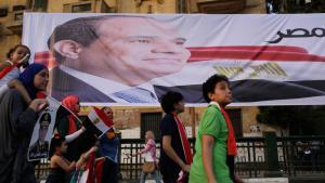 Anhänger Abdel Fattah al-Sisis am 3. Juni 2014 in Kairo; Foto: Reuters