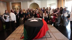 """""""Karama""""-Koordinationstreffen in Kairo am 7. Oktober 2011 anlässlich der Gründung der Plattform libyscher Frauen für den Frieden; Foto: Dominique Margot"""