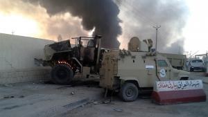 Angriffe der ISIS auf Militärfahrzeuge in Mossul; Foto: Reuters