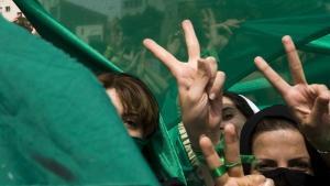 "Proteste der ""Grünen Bewegung"" in Teheran im Juni 2009; Foto: Reuters"
