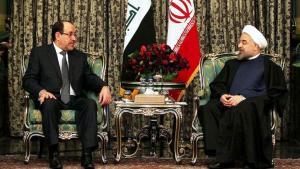 Der irakische Ministerpräsident Nuri al-Maliki zu Besuch bei Irans Präsident Hassan Rohani in Teheran; Foto: AFP