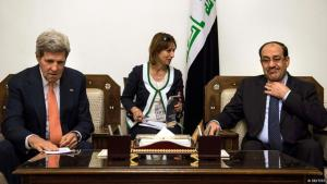 US-Außenminister John Kerry zu Besuch beim irakischen Ministerpräsidenten Nuri al-Maliki in Bagdad; Foto: Reuters