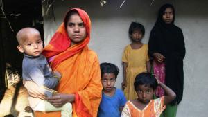 Rohingya-Bootsflüchtlinge aus Myanmar, Foto: DW/Shaikh Azizur Rahman