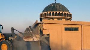 ISIS zerstören mit Bulldozer sunnitische Stätte in Tal Afar; Foto: justpaste.it/atrah
