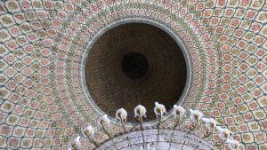 Innenansicht der Kuppel der Moschee von Jundiaì; Foto: Ekrem Güzeldere