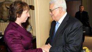 Catherine Ashton und Mahmud Abbas; Foto: picture-alliance/dpa