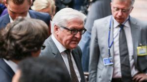 Deutschlands Außenminister Steinmeier auf dem EU-Außenministertreffen in Brüssel am 22.07.2014; Foto: picture-alliance/dpa