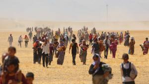 Tausende Jesiden sind auf der Flucht vor der IS; Foto: Picture Alliance/AA
