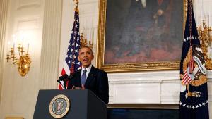 US-Präsident Barack Obama im Weißen Haus zur Lage der Kurden im Irak; Foto: Reuters