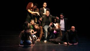 "Theaterprobe in der ""School of Acting in Ramallah""; Foto: Folkwang Universität der Künste"
