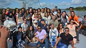 Palästinensische und israelische Dialogteilnehmer in Bonn 2014; Foto: KfGD