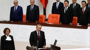 Recep Tayyip Erdogan bei seiner Amtsvereidigung in Ankara am 28.08.2014; Foto: Reuters