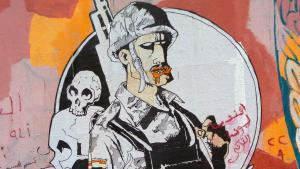 Ganzeers Graffiti in der Mohammed Mahmoud-Straße in Kairo; Foto: Arian Fariborz