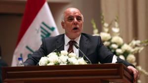 Rede des irakischen Ministerpräsidenten Haidar al-Abadi während der Vereidigung der neuen Regierung in Bagdad; Foto: Reuters/Hadi Mizban