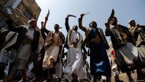 Huthi-Rebellen in der jemenitischen Hauptstadt Sanaa; Foto: Reuters