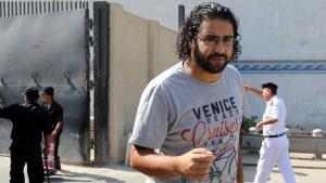Der ägyptische Blogger und Aktivist Alaa Abdel-Fattah; Foto: picture-alliance/dpa
