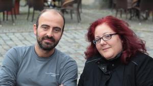 Der Klarinettist Kinan Azmeh (links) und die Sopranistin Dima Orsho; Foto: Marian Brehmer