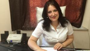 """Yasmine Merei, Chefredakteurin des Frauenmagazins """"Saiedet Souria""""; Foto: © Yasmine Merei"""