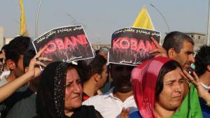 Kobanê-Solidaritätsdemonstration am 8. Oktober 2014 in Erbil; Foto: Ekrem Güzeldere