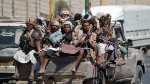 Jemenitisch-schiitische Huthi-Rebellen in Sanaa am 21. September 2014; Foto: AFP/Getty images