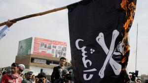 """Demonstration gegen """"Daisch"""", den Islamischen Staat, in Kabul; Foto: Hambastagi"""