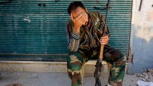 Rebell der Freien Syrischen Armee (FSA) in Aleppo; Foto: Reuters