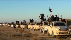 Fahrzeugkonvoi des IS am 7. Januar 2014 im Irak; Foto: picture-alliance/AP