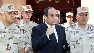 Ansprache Präsident Abdel Fattah al-Sisis in Kairo am 25.10.2014; Foto: Reuters/The Egyptian Presidency