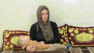 Amsha und ihr Kind; Foto: Karim El-Gawhary