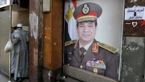 Plakat Abdel Fattah al-Sisis in Kairo; Foto: dpa/picture-alliance