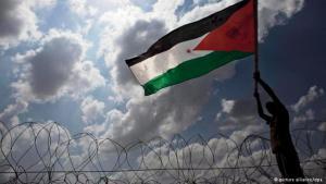 Gewaltfreier Protest von Palästinensern gegen die israelische Siedlungspolitik in Bilin; Foto: dpa/picture-alliance