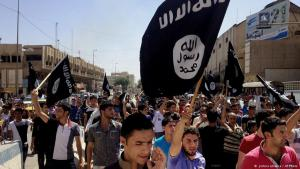 IS-Anhänger in Mossul; Foto: AP/picture-alliance