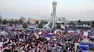 Massenproteste am Perlenplatz in Manama am 04.03.2011; Foto: picture-alliance/landov