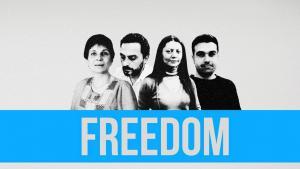 "Kampagne ""Free Douma 4""; Quelle: Syria Untold"