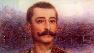 """""""Pierre Loti vor Istanbul"""" (1896), gemalt von Lucien Lévy-Dhurmer; Foto: Nr.1 Exposition Loti, Paris"""