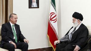 Staatsbesuch Recep Tayyip Erdogans bei Ajatollah Khamenei (r.) in Teheran; Foto: Mehr