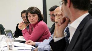 Die türkischstämmige Journalistin Canan Topçu während einer Diskussion bei der Herbert Quandt-Stiftung; Foto: privat