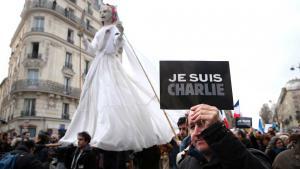 Trauermarsch gegen den Terror in Paris; Foto: dpa/picture-alliance
