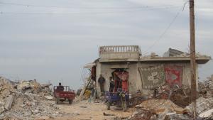 Umm Fadi Al-Najjars Haus in Khuza, Gazastreifen; Foto: Ylenia Gostoli