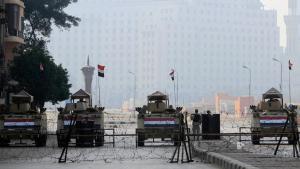 Der von der Armee abgeriegelte Tahrirplatz in Kairo am 25.01.2015; Foto: Reuters/M. Abd El Ghany