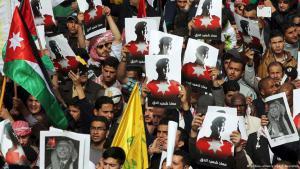 Proteste gegen den IS-Terror in Jordanien; Foto: picture-alliance/epa