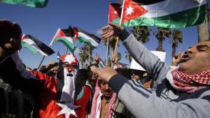 Demonstration in Amman zur Unterstützung der jordanischen Regierung im Kampf gegen den Terrorrismus; Foto: picture-alliance/AP Photo/R. Adayleh