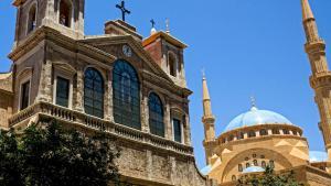 Moschee und Kirche in Beirut; Foto: DW/K.Zein-Eddine