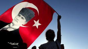 Atatürk-Anhänger in Istanbul; Foto: dpa