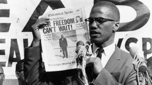 Der Bürgerrechtler und Black-Power-Aktivist Malcolm X, New York 1964; Foto: AP